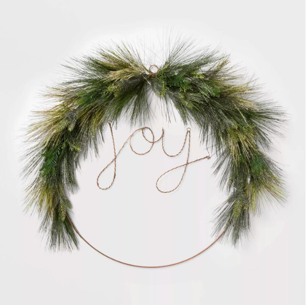Lit LED Wire Christmas Wreath JOY - Wondershop™