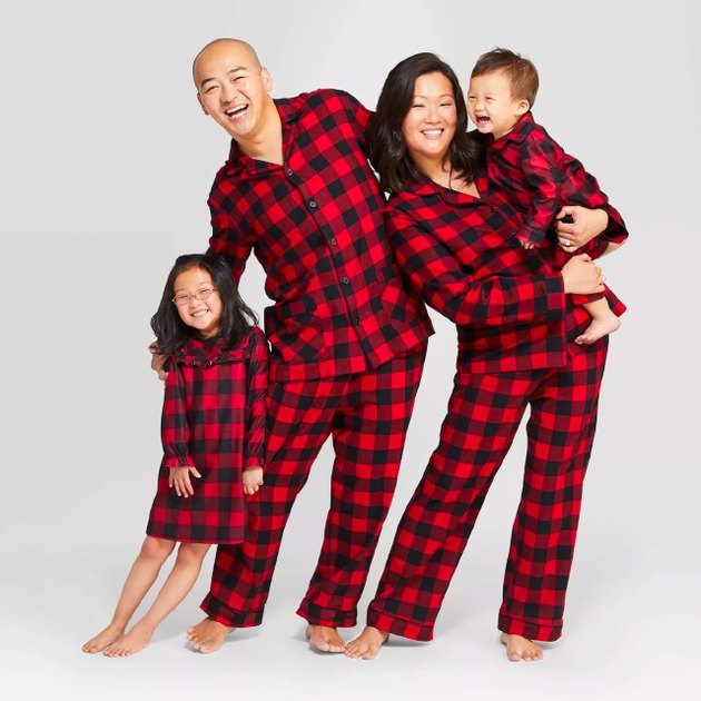 Holiday Red Buffalo Check Flannel Family Pajamas Collection
