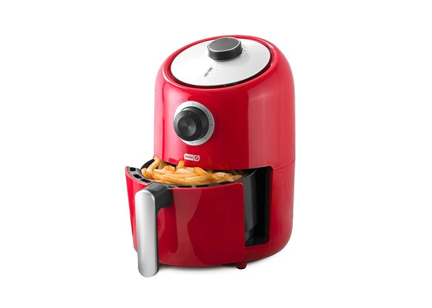 The 2QT air fryer is small but powerful, allowing you to cook veggies, tofu, meat, and virtually anything else in just a few minutes, no preheating required. The size is perfect for cooking meals for two and it's auto-shutoff timer allows you to press a button and walk away while the fryer does all the hard work for you.