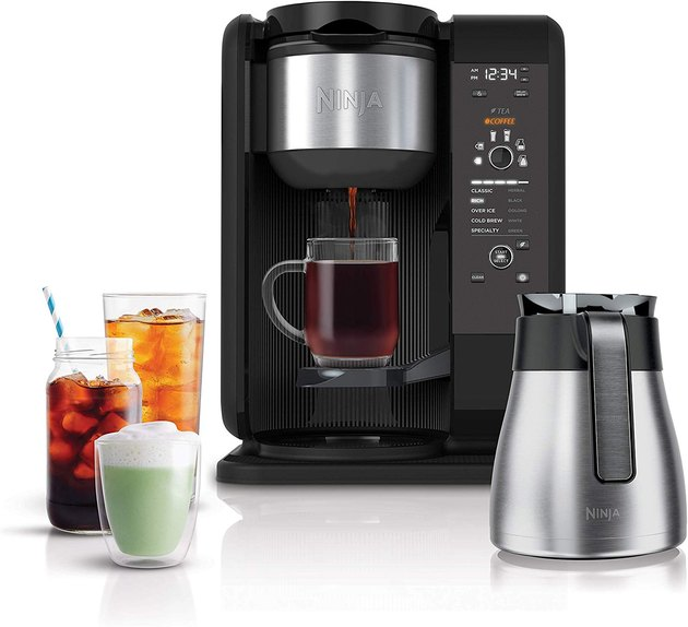 Sometimes you need more than a basic cup of joe, and this versatile device most definitely delivers on that front. In addition to brewing hot cups of coffee, you can use it make hot tea, iced tea, and iced coffee, so it'll keep you and your family happy no matter the season or craving.