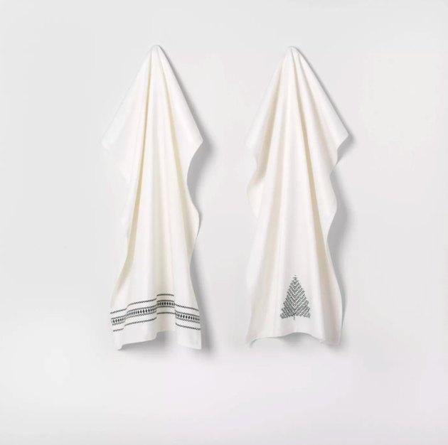 2pk Kitchen Towel Sour Cream / Green - Hearth & Hand™ with Magnolia