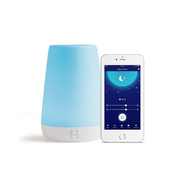 This multi-functional device combines a sound machine, nightlight, and time-to-rise alert in a neat little package.