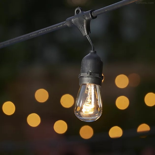 These retro lights bring the perfect soft glow to any outdoor space. The cord is 48 feet long and includes 15 bulbs.