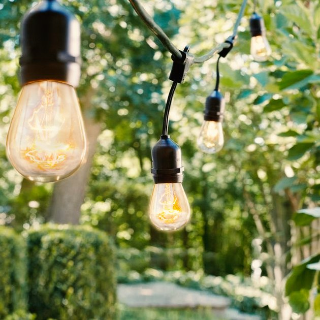 These vintage-inspired string lights span 48 feet and contain 15 bulbs. Connect up to eight strands end to end.