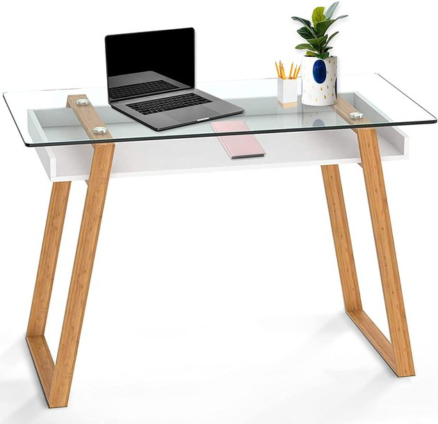This beauty looks so high-end. It's super easy to assemble and will truly elevate the look of any office space.