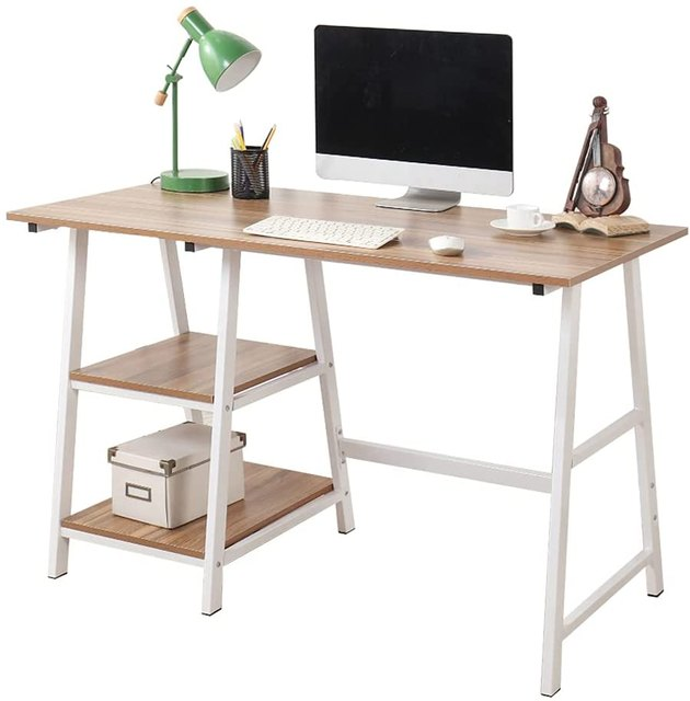 This desk gives you so much bang for your buck. A beautiful design, ample storage space, and all at an incredibly affordable price — yes please.
