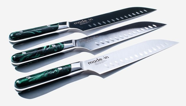 Introducing the next shape in the Made In knife collection — The Santoku. This new style of blade is paired with a beautifully handcrafted limited release handle and is one of the most stunning products in the collection.