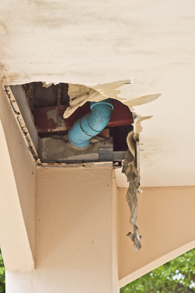 How To Paint Over Water Stains On The Ceiling Hunker