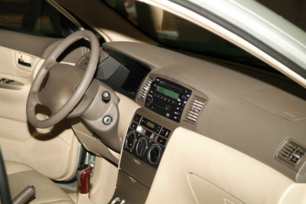 How to remove water stains from car upholstery hunker - How to clean stains on car interior roof ...