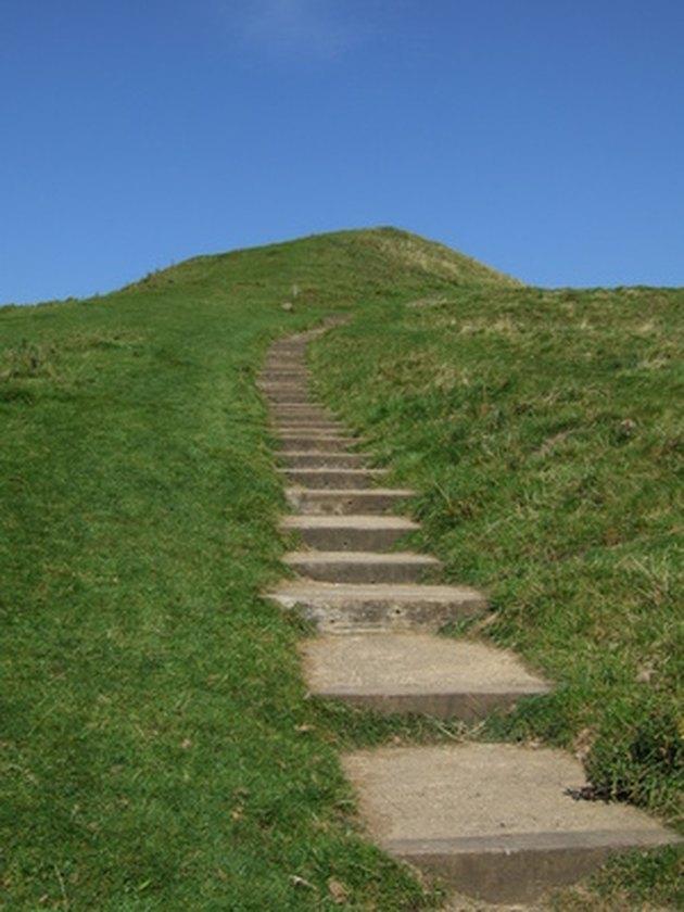 How to Build Paver Steps Into a Hillside