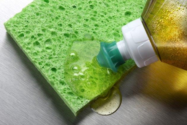 Sponge and dish soap