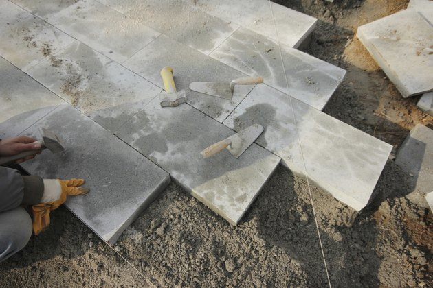 Laying Paving Slabs