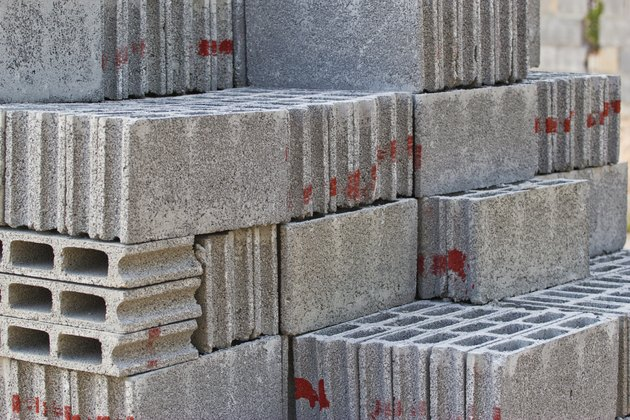 gray concrete construction blocks