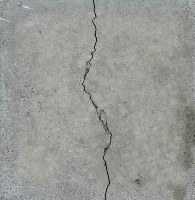 elegant split crack in gray stone