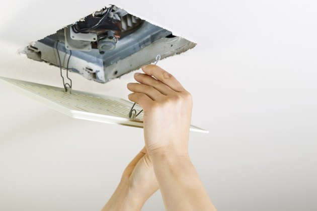 Installing Clean Bathroom Fan vent cover