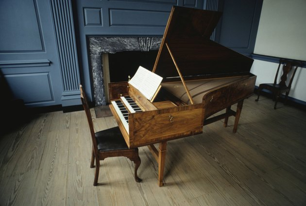 Independence Hall, Philadelphia, PA, USA, open piano in room