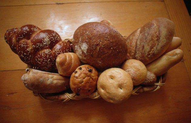 Basket of fresh baked breads