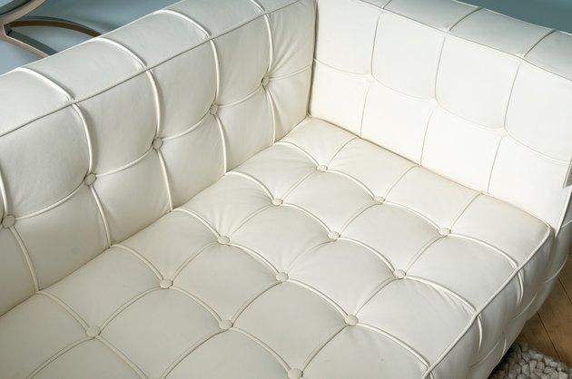White vinyl sofa