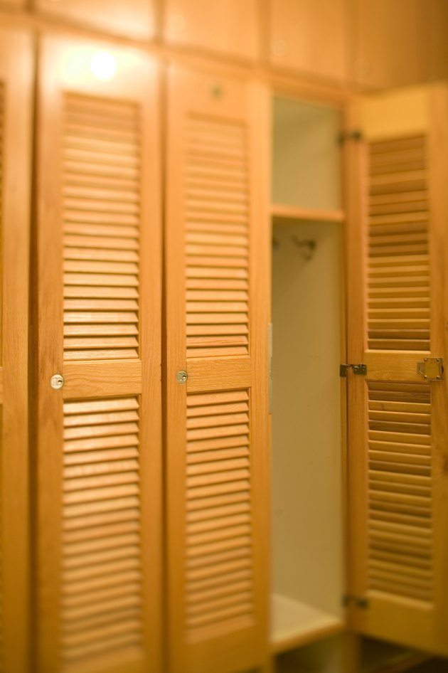 Wooden locker