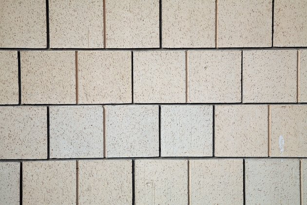 Pattern of cinder block wall