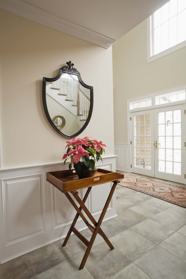 Mirror and table