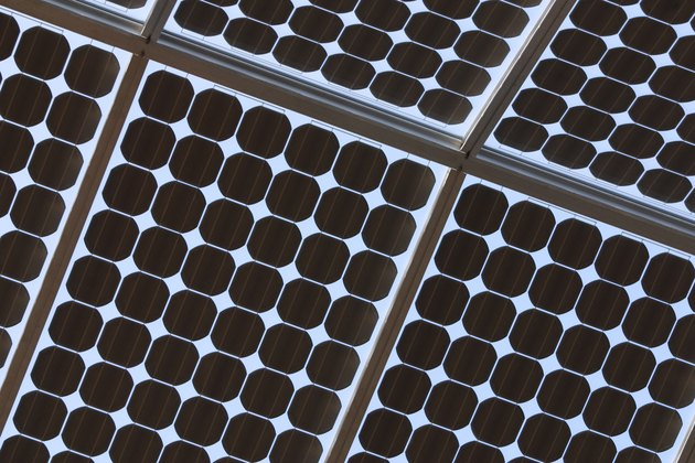 Detail of pattern of solar panels