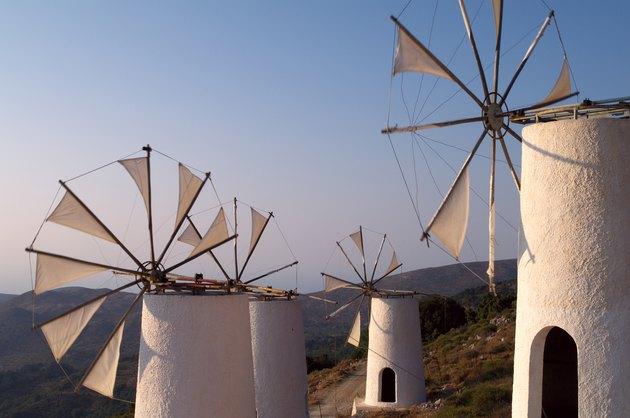 Tradition windmills on Crete island