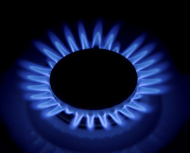 Flames of gas stove.