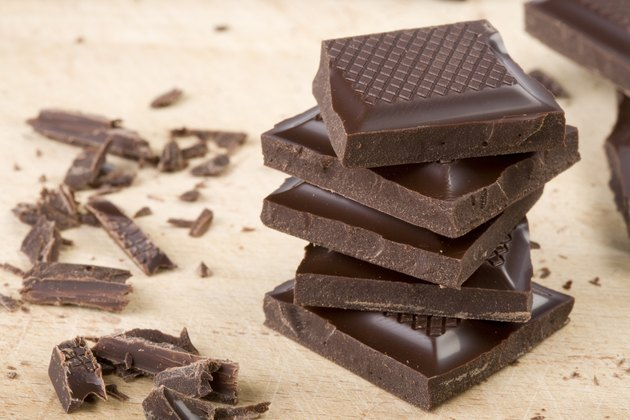 chocolate chunks stacked