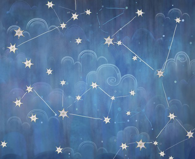 Constellations in the night sky.