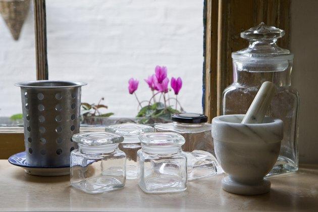 Kitchen utensils on table