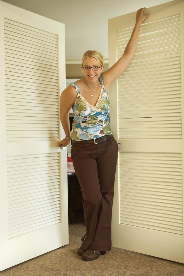Woman standing in doorway