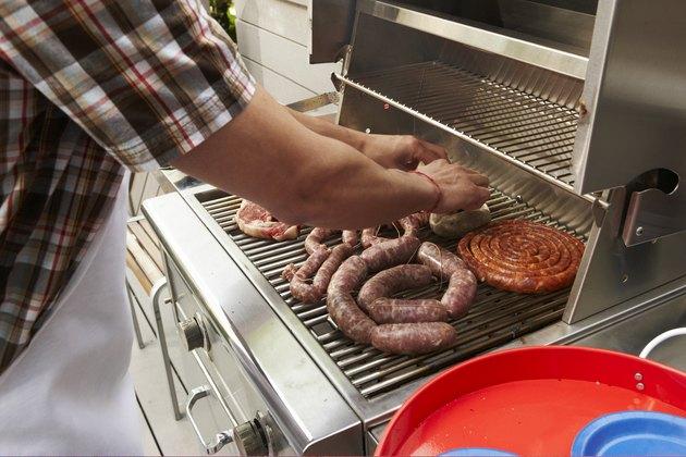 Backyard barbecue grill closeup