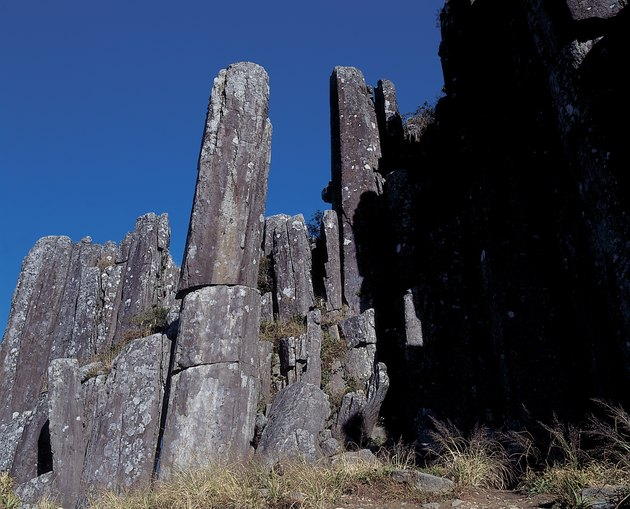 Columnar basalt formation in Pacific Northwest