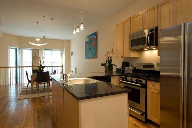 Interior of household kitchen