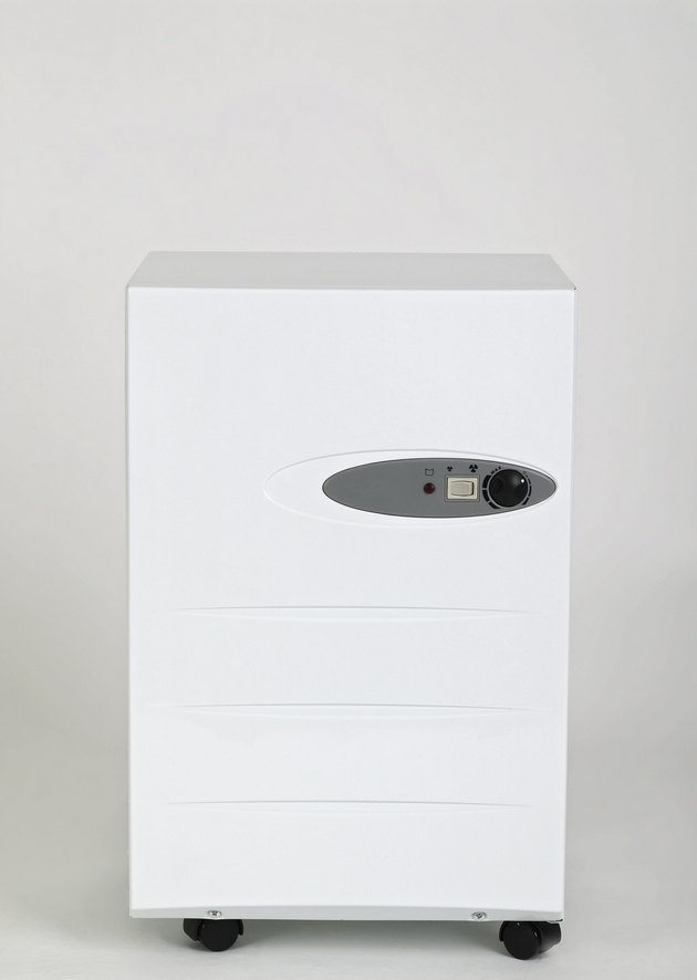 Portable dehumidifier, front view