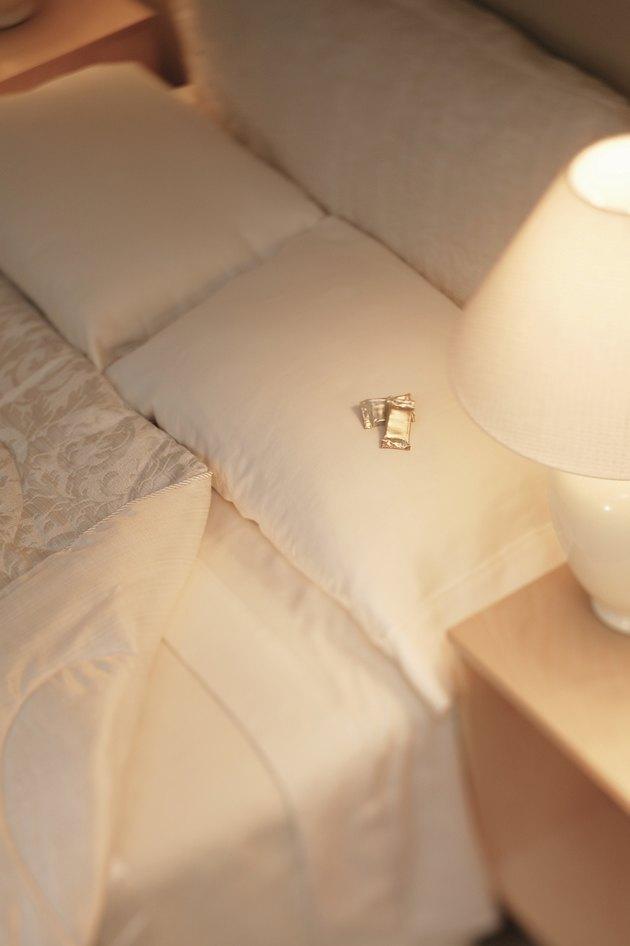Mints on pillow