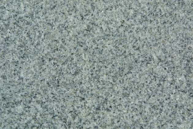 Granite surface with flecks