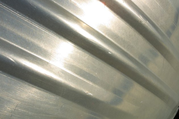 Close-up of aluminum