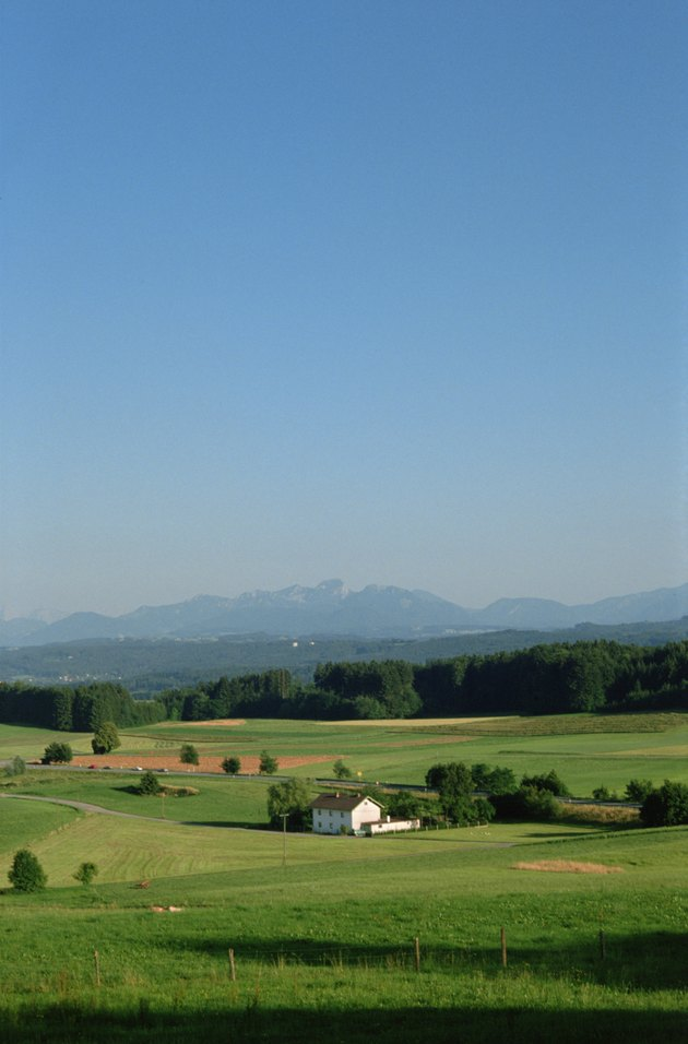 Farmhouse in field , Bavaria , Germany