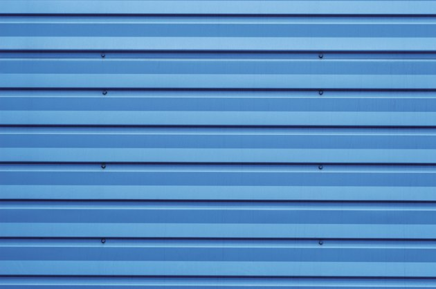 Close-up of a metal shutter