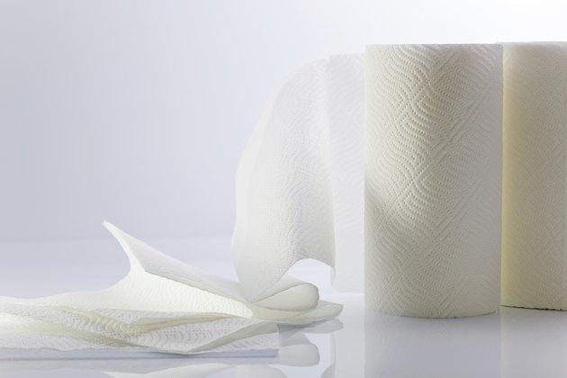 White paper towel