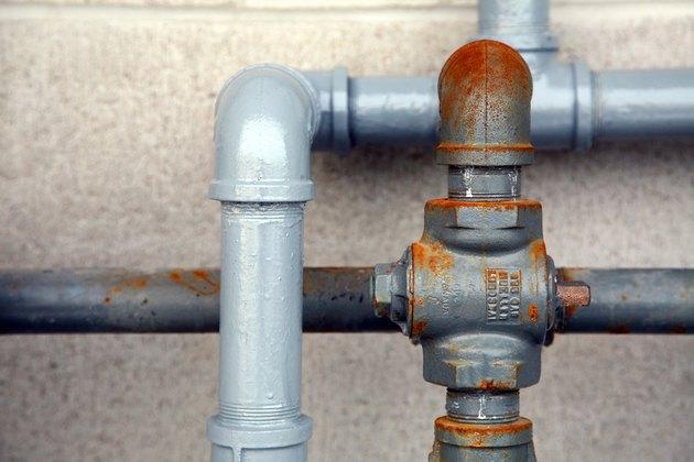 Close-up of plumbing outdoors