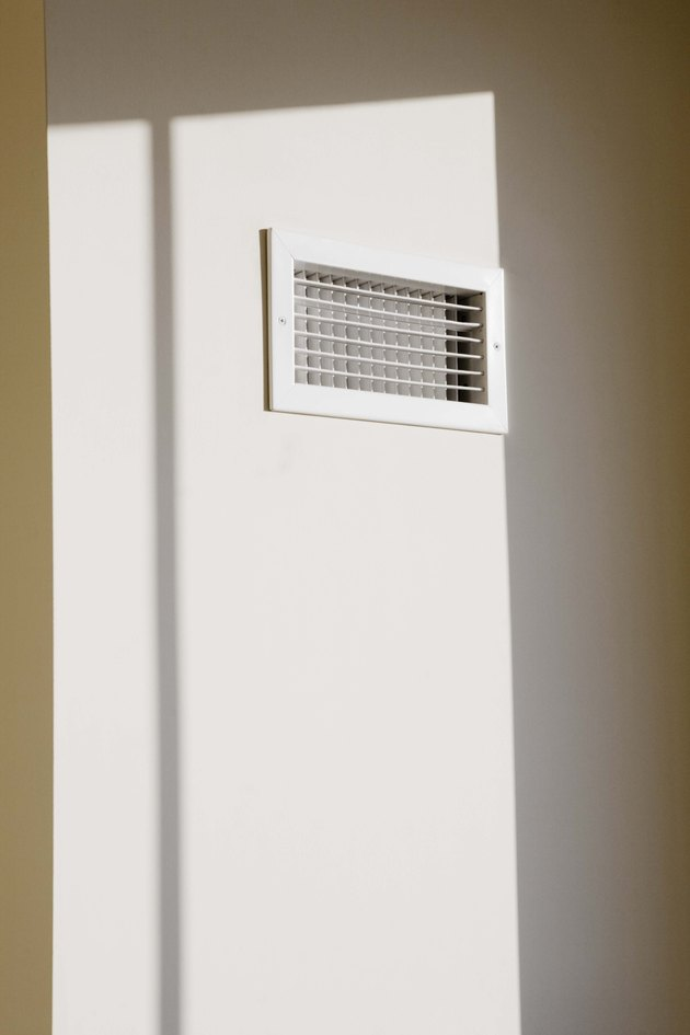 Air vent on wall