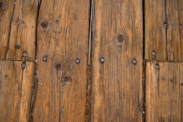 Close-up of wooden floorboards