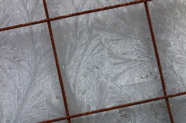 Grey tiled floor
