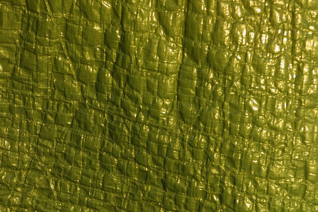 Textured green vinyl