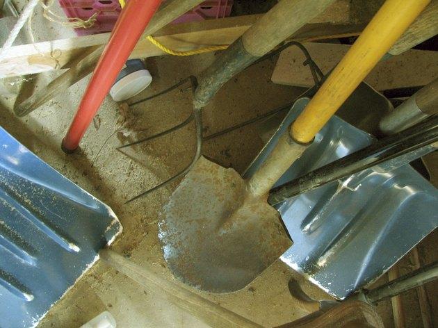 Accomplished Tools - Pitchforks, spades, shovels