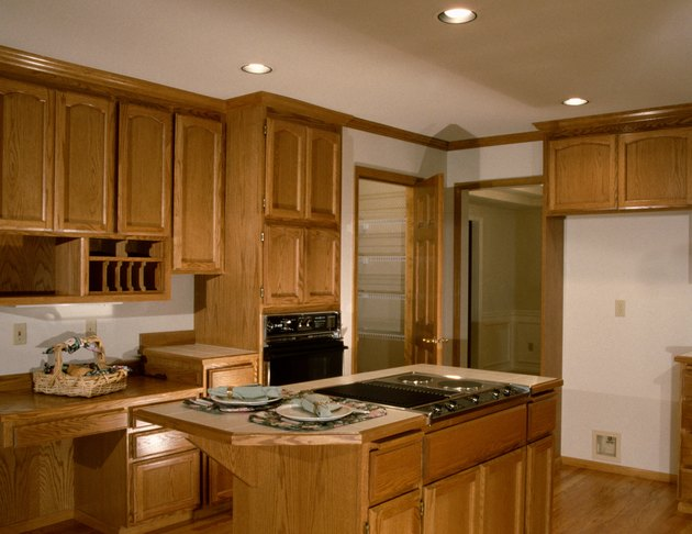 How To Refinish Wood Kitchen Cabinets Hunker
