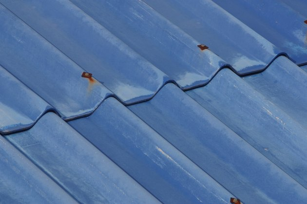 Close-up of blue roof